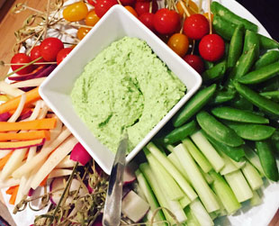 Tony Caters Lunch Crudites with Hummus