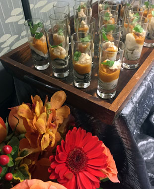 Corporate Catering:  Oyster Shooters to Start Off Lunch