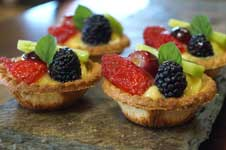 Catered Lunch in the SF Bay Area Ends Perfectly with Fresh Fruit Tartlets