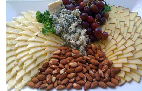Catered Cheese Fruit Nut Tray