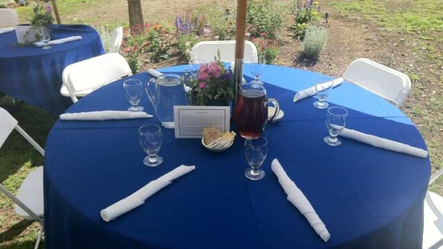 Set Up for a Garden Party
