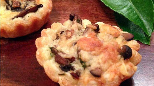 Caramelized Mushroom and Parmesan Tartlets