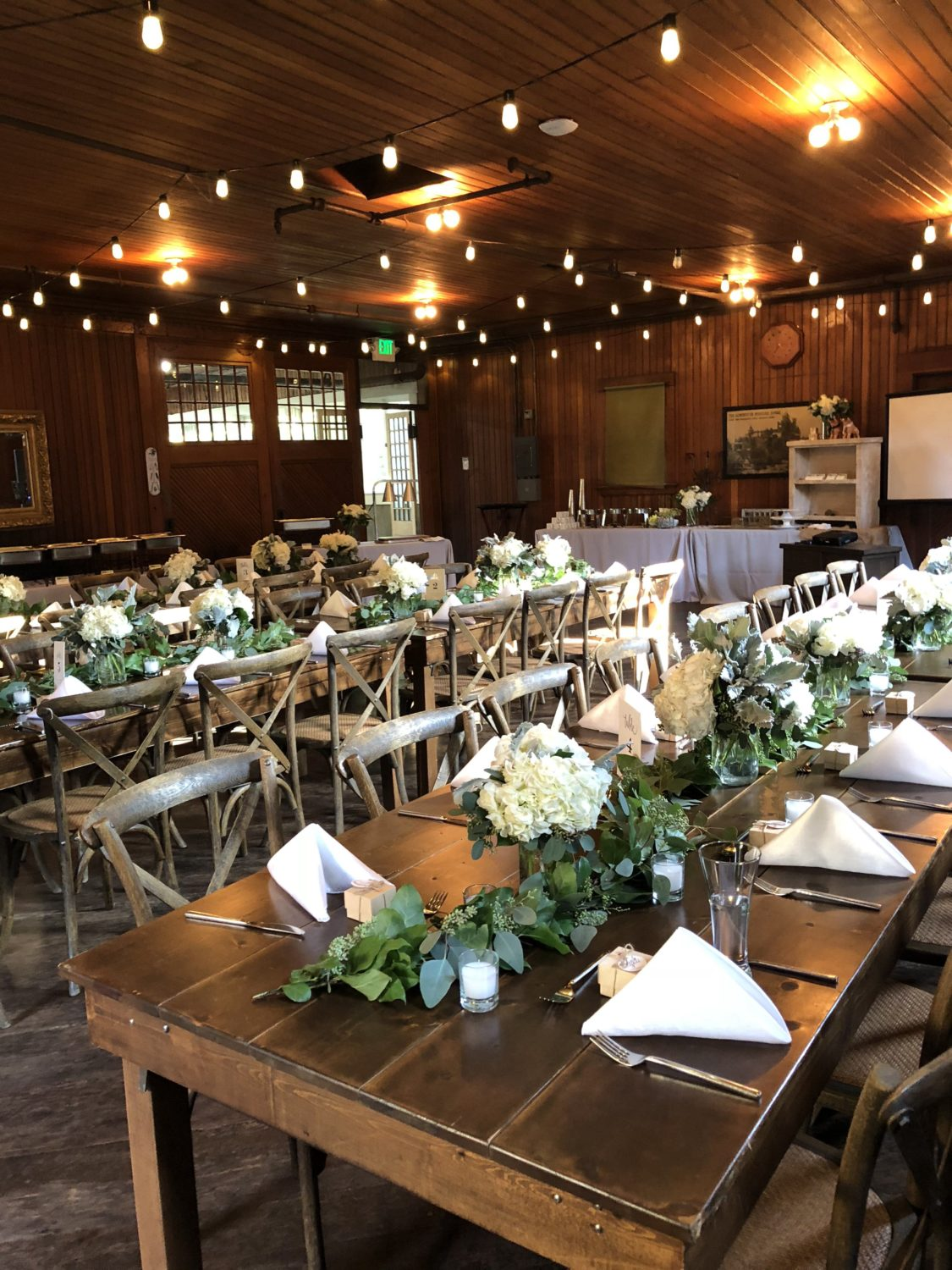 Gallery Reception Tables Set Winchester House San Jose X
